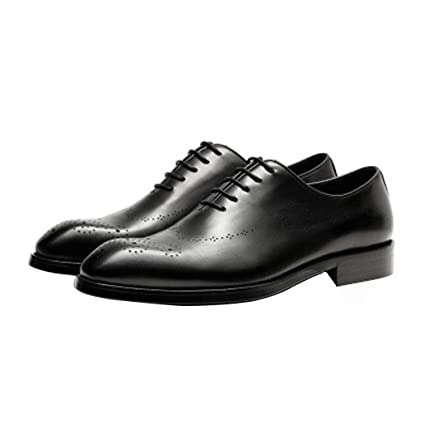 c14d6a35e41215 Autumn Men's Leather Shoes England Pointed Toe Men's Shoes Wedding Lace Up  Brogues Formal Dress Shoes