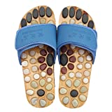 Healthcare Natural Cobblestone Foot Massage pebble massage slippers plantar acupuncture points Shoes , blue , 40