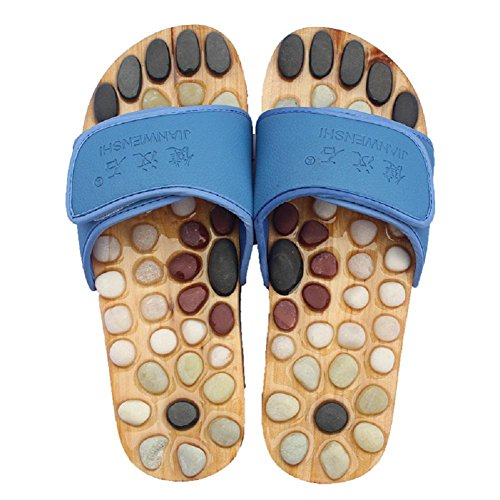 Foot plantar 45 massage blue HHORD Natural Massage points acupuncture Cobblestone Shoes slippers Healthcare pebble qOOtwT8a4