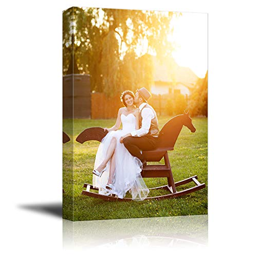 NWT Custom Canvas Prints with Your Photos for Wedding, Personalized Canvas Pictures for Wall to Print Framed 36x24 inches (Best Cheap Canvas Prints)
