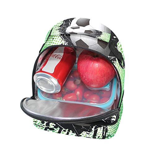 Cooler Design Soccer réglable Sac Alinlo à l'école Boîte lunch bandoulière Tote à avec Pincnic pour isotherme 4wTYTaq