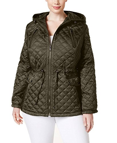 Quilted Coat Laundry (Laundry by Shelli Segal Womens Quilted Coat, 3X)