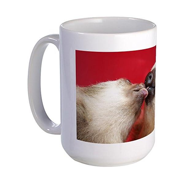 Cafepress Kissing Sloths Large Mug Coffee Mug, Large 15 Oz. White Coffee Cup -