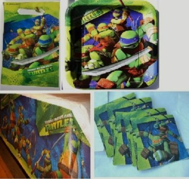 Teenage Mutant Ninja Turtles Birthday Party Set Pack for 16, Health Care Stuffs