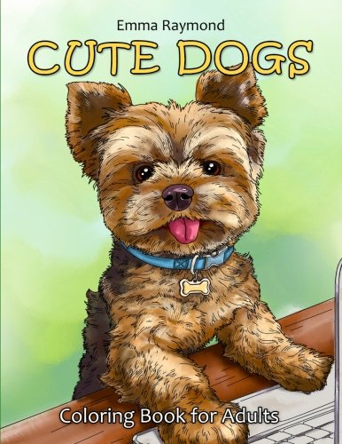 Cute Dogs Coloring Book for Adults