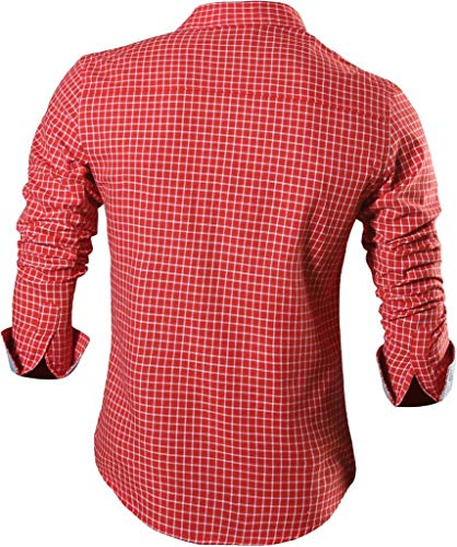 Business Jeansian Chemises red Formal Dress Mode Slim Manche Tops Fashion Hommes Casual Men's Z029 Shirt 8615 Longue U1wnxUR8r
