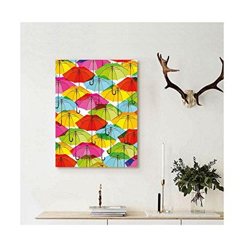 Liguo88 Custom canvas Modern Colorful Umbrella Figures in Vi
