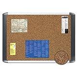 Tech Cork Board, 36x48, Silver/Black Frame, Sold as 1 Each