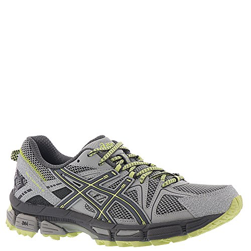 - ASICS Gel-Kahana 8 Trail Running Shoes - Women's, Mid Grey/Carbon/Limelight, T6L5N.9697-7.5