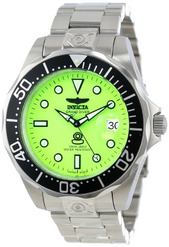 Dial Green Bezel (Invicta Men's 10641 Pro Diver Automatic Green Dial Stainless Steel Watch)