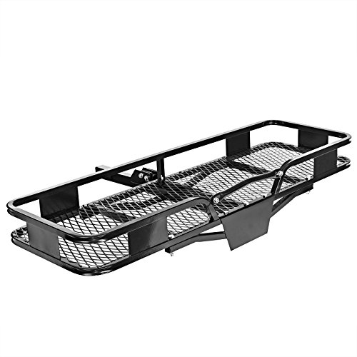 Direct Aftermarket Folding Hitch Rack Cargo Carrier 60 inch Hauler 2 inch Receiver ()