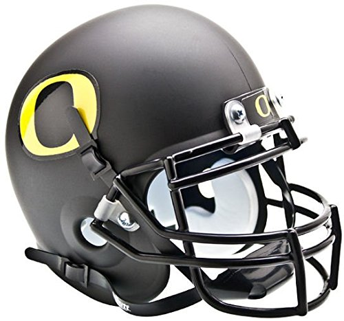 NCAA Oregon Ducks Collectible Alt 3 Mini Helmet, Matte Black (Oregon Ducks Football Helmet)