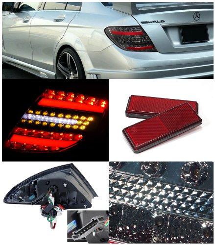 BMW W204 C-class Euro Smoke LED 3D Light Bar Rear Tail Brake Lamps