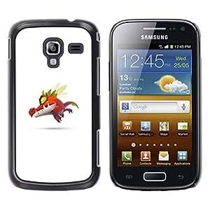 Caucho caso de Shell duro de la cubierta de accesorios de protección BY RAYDREAMMM - Samsung Galaxy Ace 2 - Monstruo lindo P0kemon
