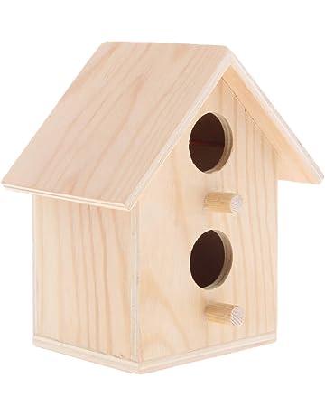 Homyl Casa Registro Cabaña Productos Aves Jaula de Loros Caja Cedro Caseta de Pájaros - Estilo