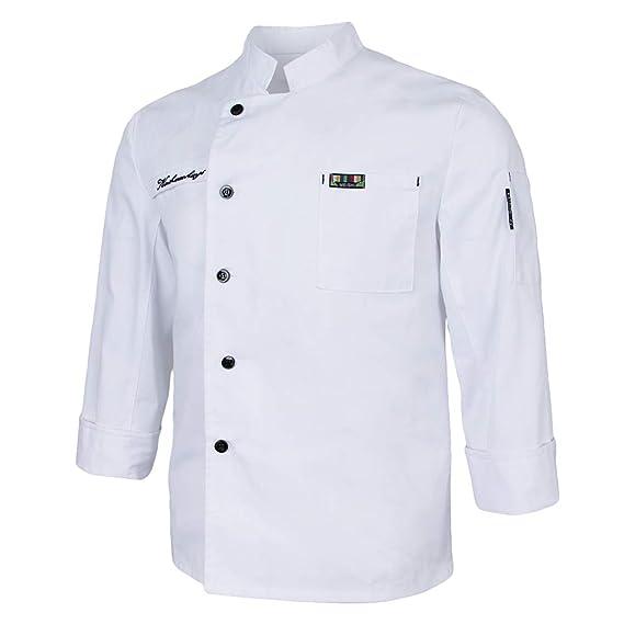 B Baosity Chaqueta de Chefs Ropa de Cocinero Camareros Catering ...