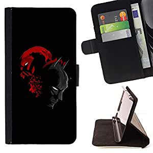 DEVIL CASE - FOR Samsung Galaxy Note 3 III - Bat & Villain Superhero Duel - Style PU Leather Case Wallet Flip Stand Flap Closure Cover