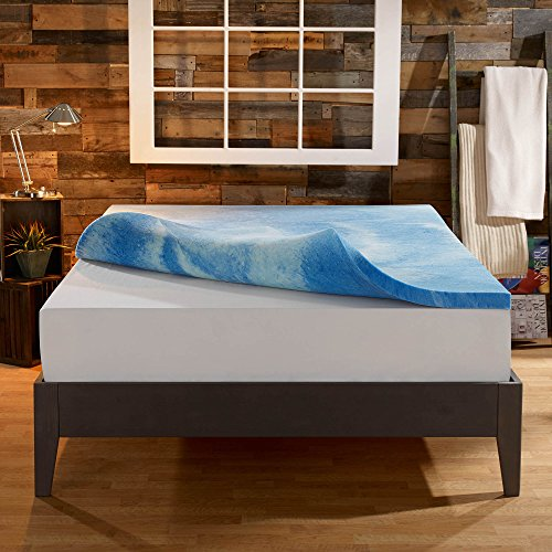 Sleep Innovations 4-Inch Dual Layer Mattress Topper - Gel Memory Foam and...