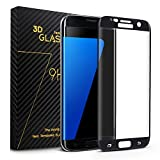Bestfy Galaxy S7 Edge Screen Protector 3D Curved Full Coverage Premium Tempered Glass Bubble-Free[Ultra Thin 0.2mm Thickness] for Samsung Galaxy S7 Edge with Microfiber Cloth -Black