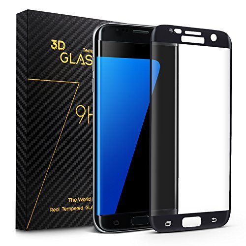 Redlink Samsung S7 Edge Screen Protector, 3D Curved Edge Tempered Glass Screen Film with Full Coverage, Anti-Scratch, Super HD Clear for Samsung Galaxy S7 Edge