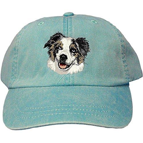 Cherrybrook Dog Breed Embroidered Adams Cotton Twill Caps - Caribbean Blue - Australian Shepherd (Cherrybrook Dog Supplies)