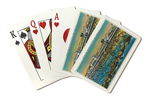 Coney Island, New York - View of Swimmers at the Washington Baths (Playing Card Deck - 52 Card Poker Size with Jokers)