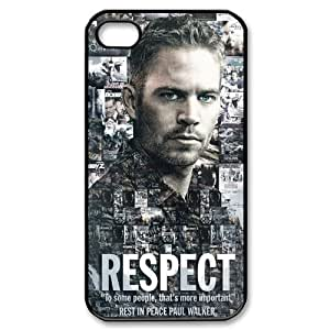 Fast Furious Actor Paul Walker Hard Plastic Apple iPhone 4 4s Case Back Cover,Hot iPhone 4 4s Case at Surprise you