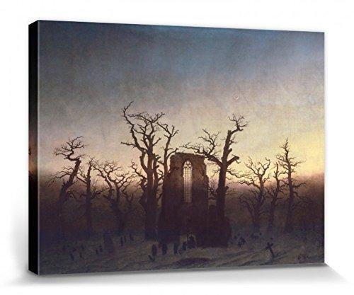 Caspar David Friedrich Stretched Canvas Print - Abbey in The Oak Woods, 1808 (16 x 12 inches)