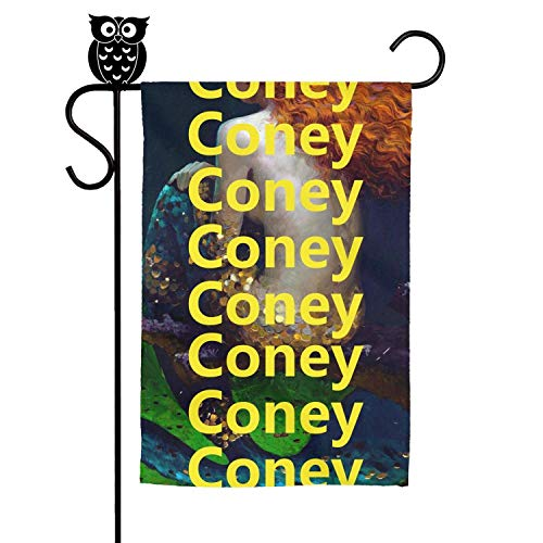 kanidjkd Autumn Home Garden Flag Coney Island Mermaid Parade Back Art Premium MaterialDesignsDecorative Flags,12 X 18 Inch
