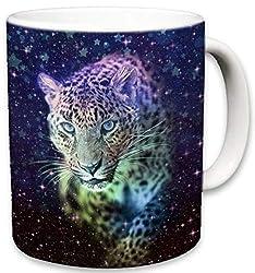 Sweet Gisele   Cute Animal Ceramic Mug   Coffee Lovers Cup   Zebra, Red Panda, Peacock, Leopard, Elephant Mugs   Great Novelty Gift   Decorative Drinkwear   Multi Color   11 Fl. Oz