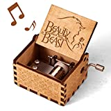mrwinder Beauty and The Beast Music Box - Merchandise Vintage Classic Wood Hand Crank Carved Best Gift for Kids, Boys, Girls, Friends (Beauty and The Beast)