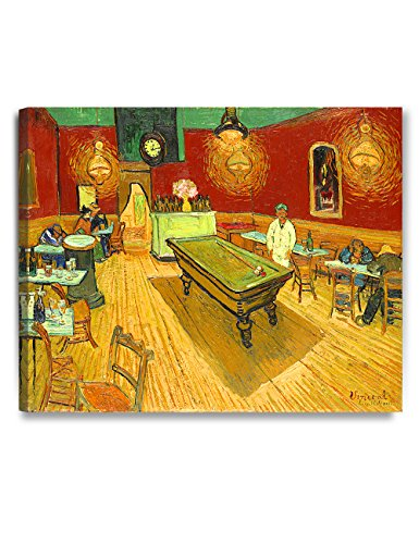 DecorArts - The Night Cafe in the Place Lamartine in Arles, by Vincent Van Gogh. The Classic Arts Reproduction. Art Giclee Print On Canvas, Stretched Canvas Gallery Wrapped. 30x24