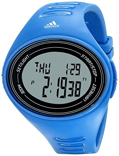 adidas Unisex ADP6108 Digital Blue Watch with Polyurethane - Sport Buckle Adidas Performance