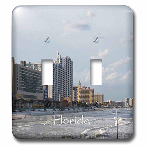 3dRose Florida - Image of Famous Daytona Beach - Light Switch Covers - double toggle switch - Daytona Beach Florida Outlets