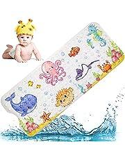 Mata łazienkowa dla dzieci, antypoślizgowa mata do wanny, kreskówkowa mata pod prysznic, 40 x 100 cm antypoślizgowa kreskówkowa bardzo długa mata do wanny z przyssawką dla niemowląt, małych dzieci, dzieci