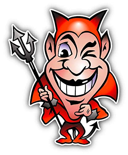 (JJH Inc Magnet Devil Smile Funny Cartoon Red Flexible Vinyl Magnet Waterproof Car Magnetic Bumper Sticker 5