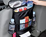 #4: Anniston Twinkle Car Seat Back Organizer - Baby Backseat Organizer - Multi-Pocket Travel Storage Bag for Baby Travel Accessories, Kids Toy Storage, Back Seat Protector/Kick Mat (BO-007)