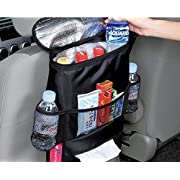 CarClean Car Seat Back Organizer - Baby Backseat Organizer - Multi-Pocket Travel Storage Bag for Baby Travel Accessories, Kids Toy Storage, Back Seat Protector/Kick Mat (BO-007)