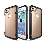 iPhone 8 Case, Defense Shield Series - Military Grade Drop Tested, Anodized Aluminum, TPU, and Polycarbonate Protective Case for Apple iPhone 8/iPhone 7 (Black-Clear)