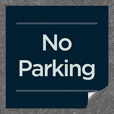CGSignLab |''No Parking -Basic Navy'' Heavy-Duty Industrial Self-Adhesive Aluminum Wall Decal (5-Pack) | 36''x36''