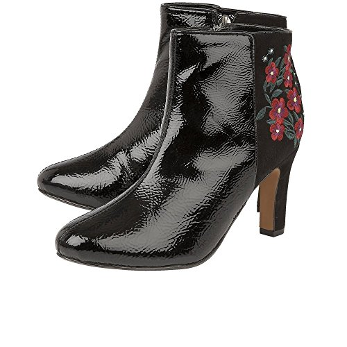 Lotus Vita Womens Dress Ankle Boots Black Crinkle/Multi dfml16