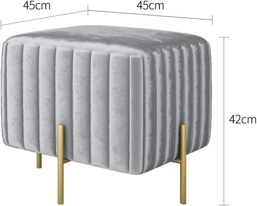 Wohnzimmerhocker Kinderbank abnehmbare Metall 4-Beine,A JDBDYA Haushaltsfu/ßhocker Ottoman Square Hocker Modern Sofa Fu/ßst/ützen Gepolsterter Makeup Hocker