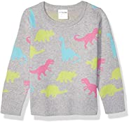 Amazon Brand - Spotted Zebra Girls' Toddler & Kids Pullover Crew