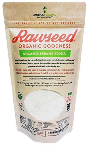 Flour Sesame Seeds (Rawseed Sesame Flour 1 1/2 lbs (24 oz) Organic Certifed Natural 100%, Gluten Free)
