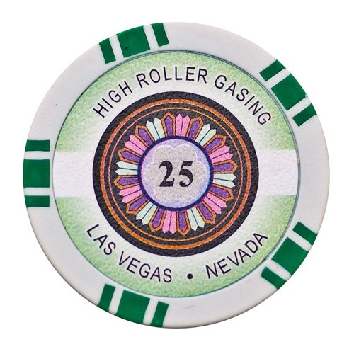 Lion Games & Gifts Europe 11.5 g High Roller Value 25 Chip (Green) ()