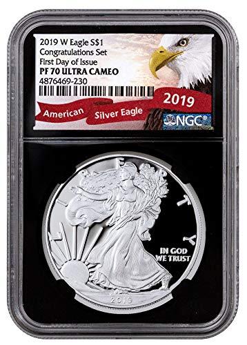 2019 W 2019 Proof American Silver Eagle Congratulations Set U $1 PF70 NGC PF70