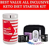 Bruno MD Ketorex Exogenous Ketones BHB Salts + MCT Powder, Clinically-Proven Phytosome Complex + Blood Ketone and Glucose Monitoring System +...