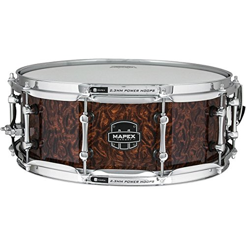 MAPEX ARML4550KCWT Armory 14 x 5.5 Inches The Dillinger Snare Drum with Chrome Hardware, Walnut Stain by Mapex