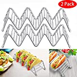 CNszlan 2Pack Taco Holder Stand Stainless Steel Rustproof Taco Holders Shell Rack Dishwasher Safe for Restaurant Home Kids