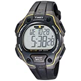 Timex Men's T5K4949J Ironman Classic 50 Full-Size Black/Yellow Resin Strap Watch